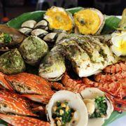 hải sản nướng trọn gói