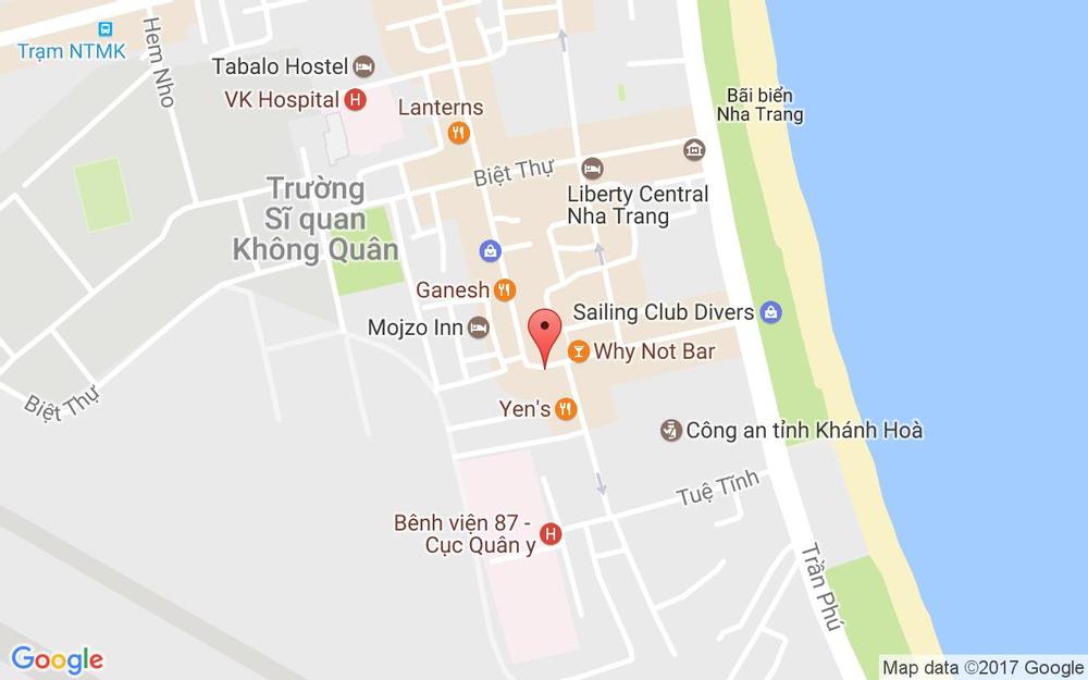 Vị trí bản đồ 5A Trần Quang Khải, P. Lộc Thọ Tp. Nha Trang Khánh Hoà