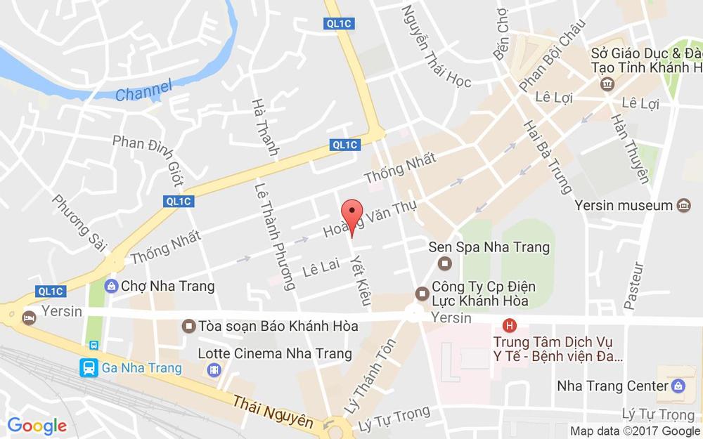 Vị trí bản đồ 23A Yết Kiêu, P. Vạn Thắng Tp. Nha Trang Khánh Hoà