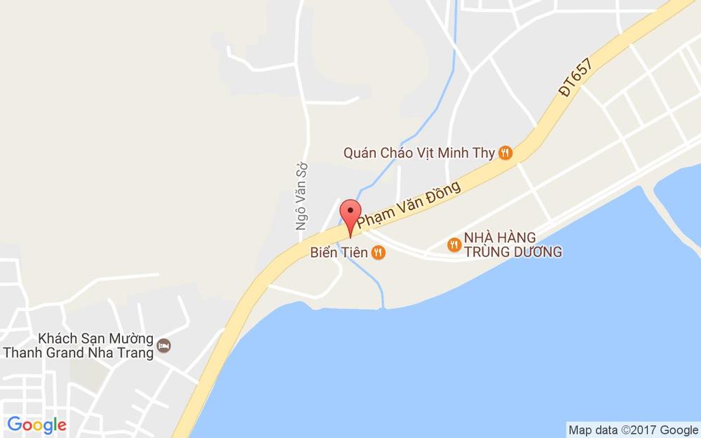 Vị trí bản đồ 1 Phạm Văn Đồng, P. Vĩnh Hòa Tp. Nha Trang Khánh Hoà