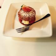 bánh kem phô mai dâu