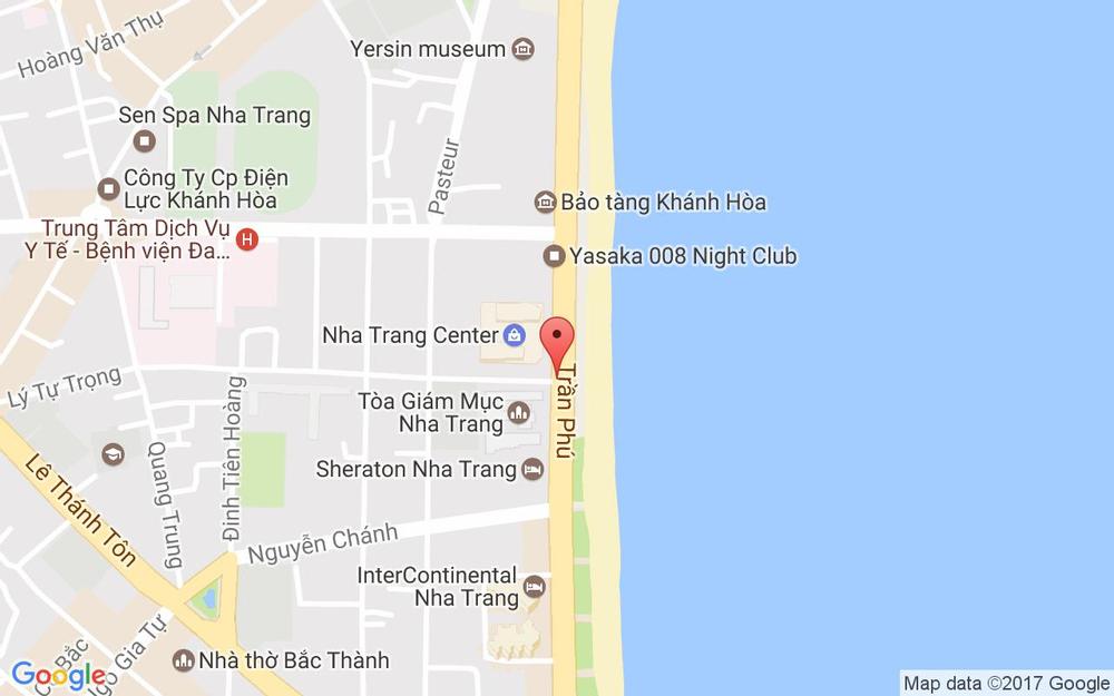 Vị trí bản đồ 1 Lý Tự Trọng, P. Lộc Thọ Tp. Nha Trang Khánh Hoà