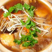 Đậu hũ nấu các loại nấm - Mixed mushroom tofu