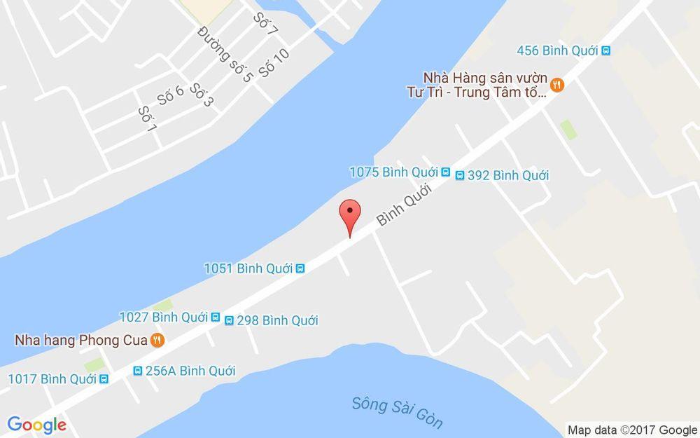 Vị trí bản đồ 253 Bình Quới, P. 28 Quận Bình Thạnh TP. HCM