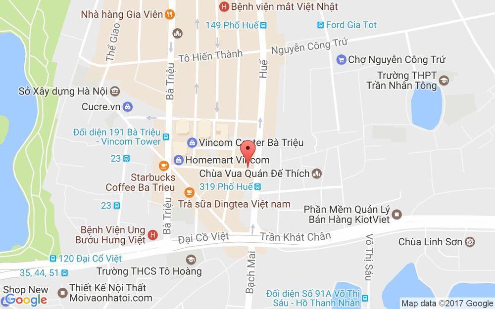 Vị trí bản đồ 3 Thái Phiên Quận Hai Bà Trưng Hà Nội