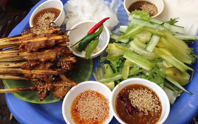 Thịt Xiên Nướng - Phố Cổ