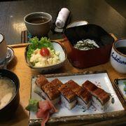 Set 12 Eel Sushi w/ Cold Somen Noodles