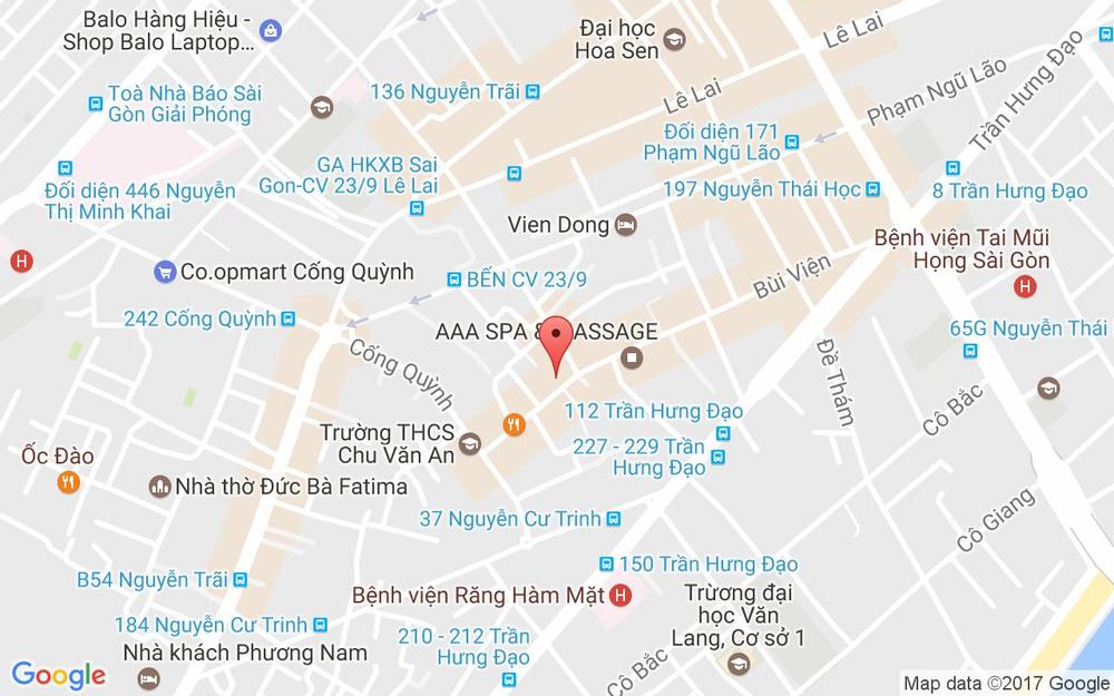 Vị trí bản đồ 248 Bùi Viện, P. Phạm Ngũ Lão Quận 1 TP. HCM