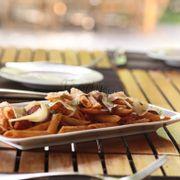Chorizo & Shrimp Penne Pasta