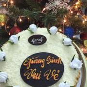 Christmas cake with corn.