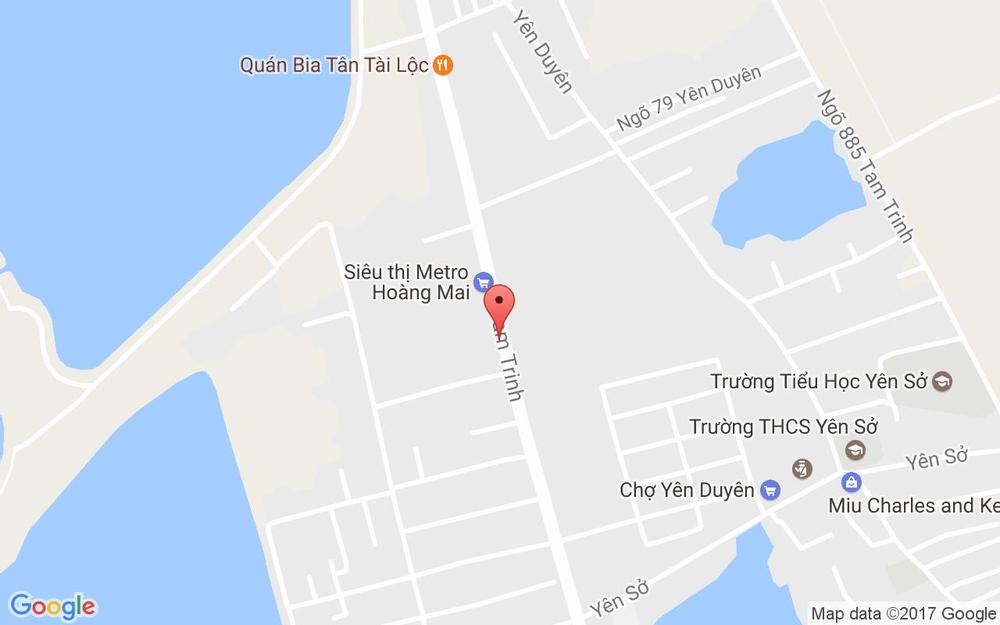 Vị trí bản đồ Metro - Tam Trinh ở Hà Nội