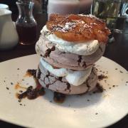 Roasted PineApple Dark Chocolate Pavlove