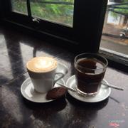 latte + americano