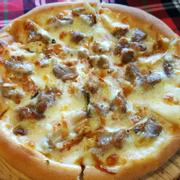 Pizza kim chi thịt nướng