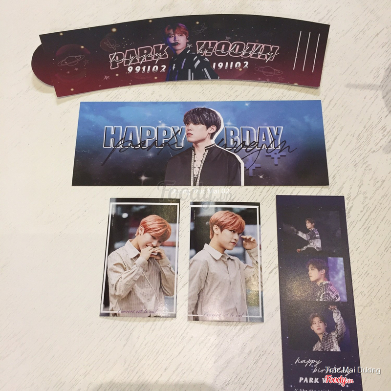 Cup Holder & Cards  Park Woo Jin ( Wanna One - AB6IX )
