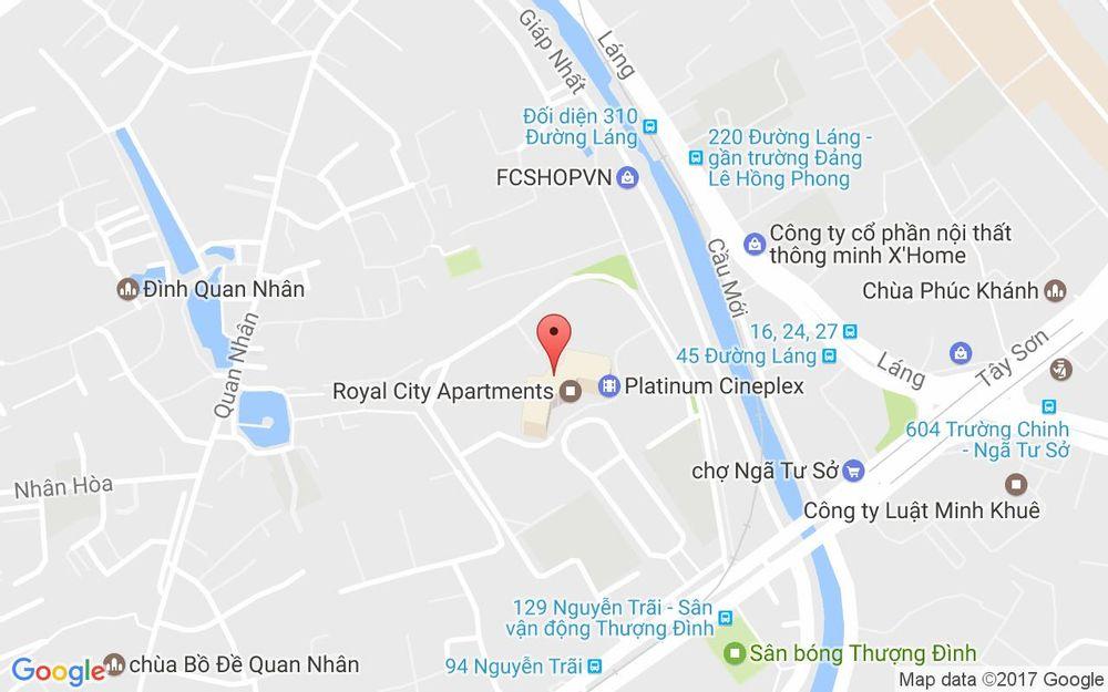 Vị trí bản đồ Royal City 72A Nguyễn Trãi Quận Thanh Xuân Hà Nội