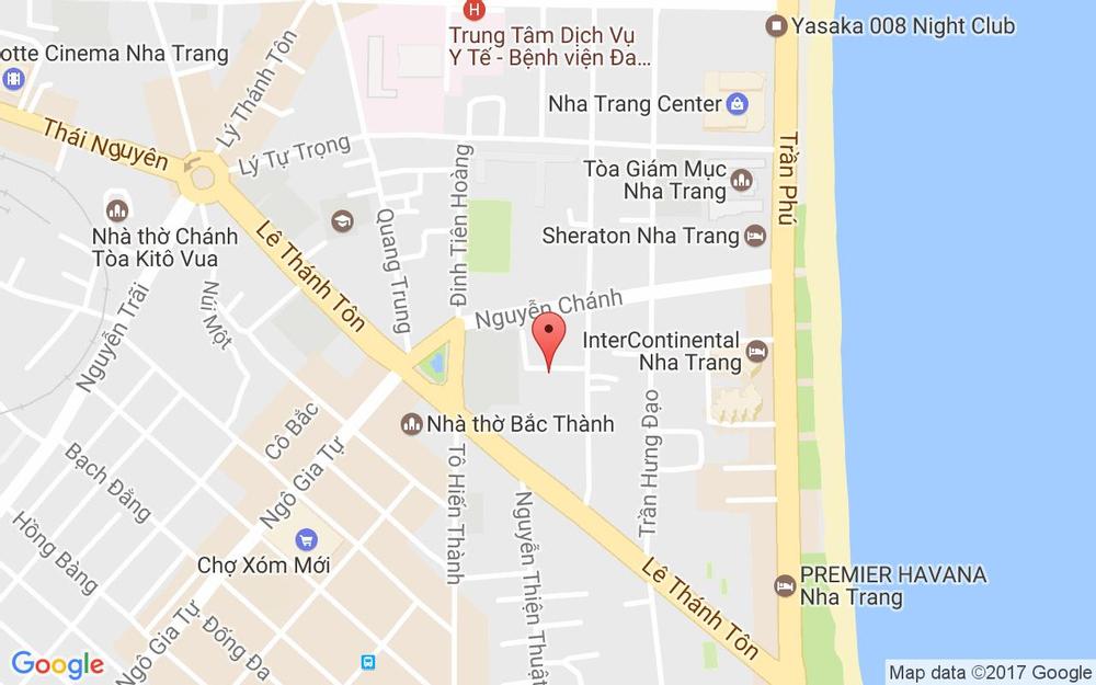 Vị trí bản đồ 28/10 Hoàng Hoa Thám Tp. Nha Trang Khánh Hoà