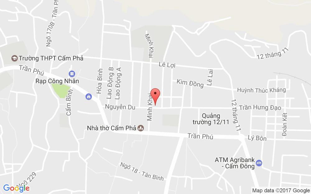 Vị trí bản đồ 52 Nguyễn Du Tp. Cẩm Phả Quảng Ninh