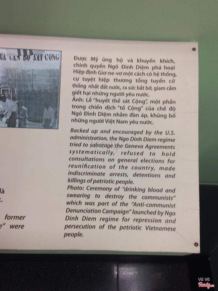 Bảo Tàng Chứng Tích Chiến Tranh ở TP. HCM