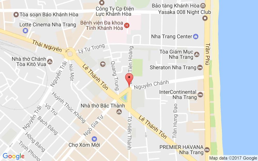 Vị trí bản đồ 02/2A1 Đinh Tiên Hoàng Tp. Nha Trang Khánh Hoà