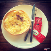 Quiche bacon & onion