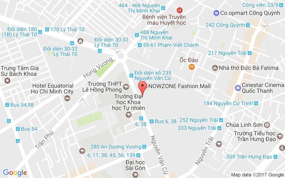 Vị trí bản đồ Tầng 4 Nowzone, 235 Nguyễn Văn Cừ, P. Nguyễn Cư Trinh Quận 1 TP. HCM