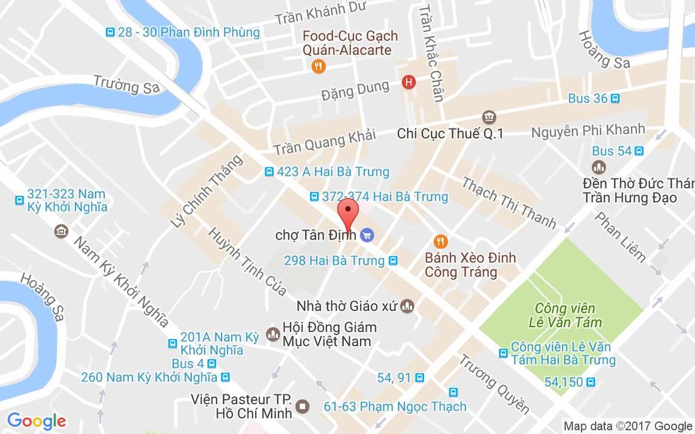Vị trí bản đồ 10 Trần Quốc Toản Quận 3 TP. HCM