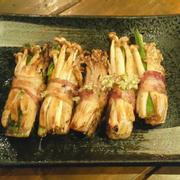 thịt xông khói cuộn nấm
