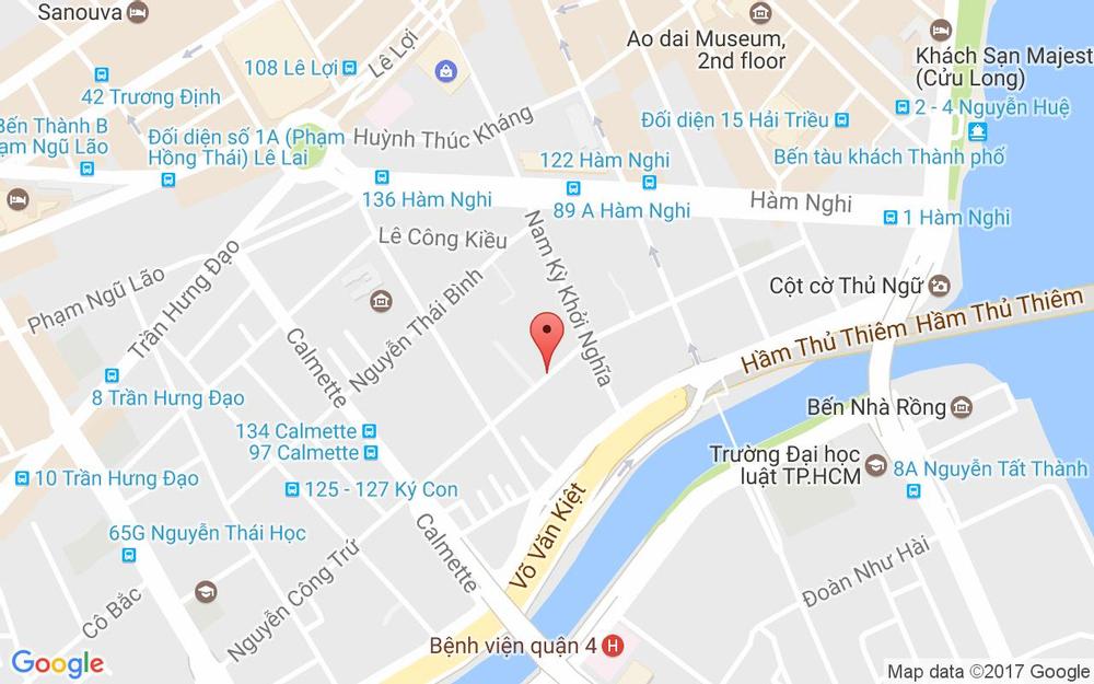 Vị trí bản đồ 162 Nguyễn Công Trứ Quận 1 TP. HCM