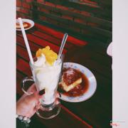 Bánh flan 30k/dĩa và yogurt đào cực ngon