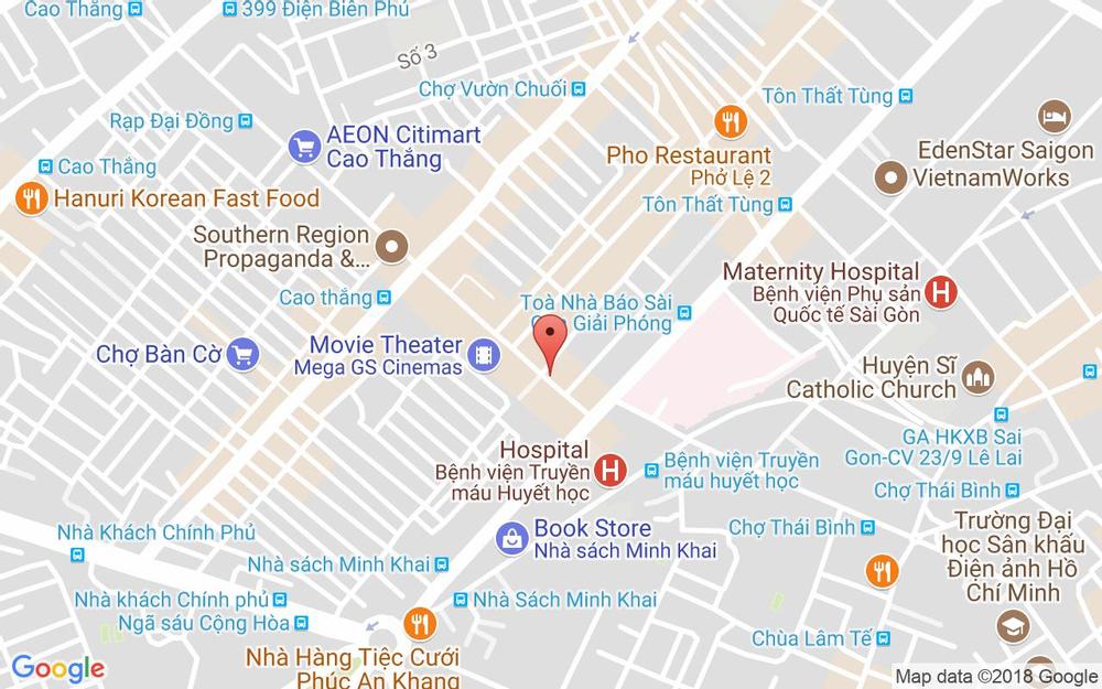 Vị trí bản đồ 6 Cao Thắng, P. 5 Quận 3 TP. HCM