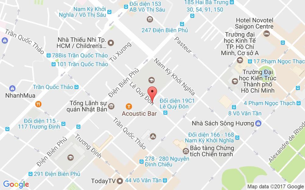 Vị trí bản đồ 23 Lê Quý Đôn, P. 6 Quận 3 TP. HCM