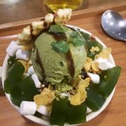Bingsu trà xanh nè :))