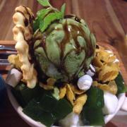 bingsu thạch trà xanh