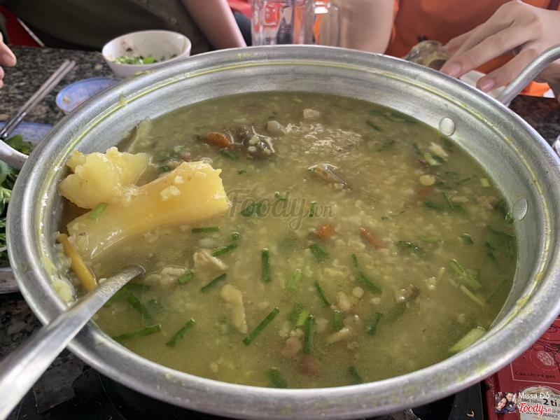 Cháo dựng bò đậu xanh - có khoai mì