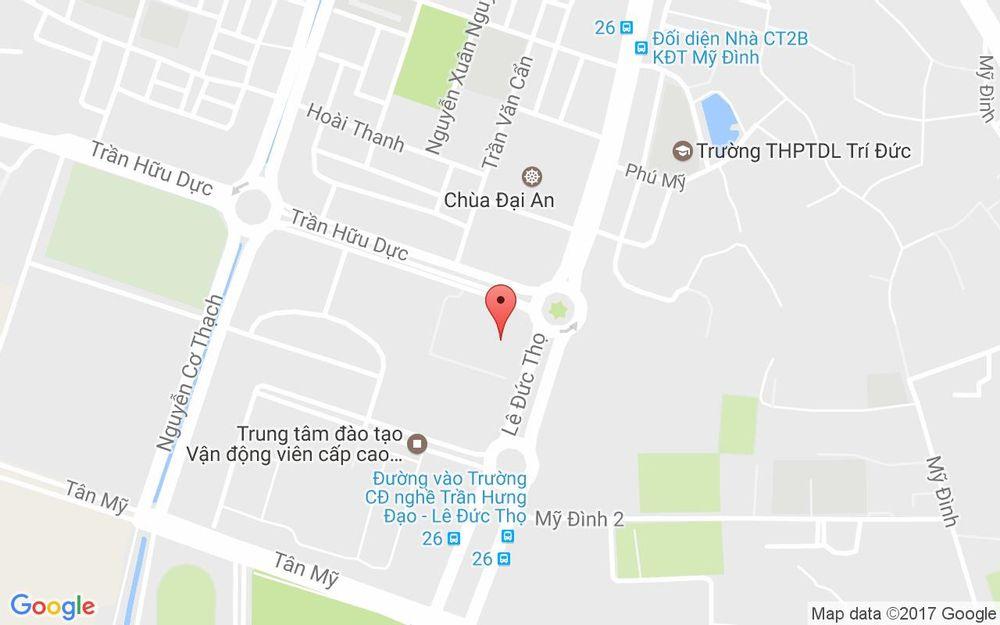 Vị trí bản đồ Crowne Plaza West Hanoi Hotel ở Hà Nội