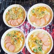 Trứng cút nướng chén thập cẩm phô mai
