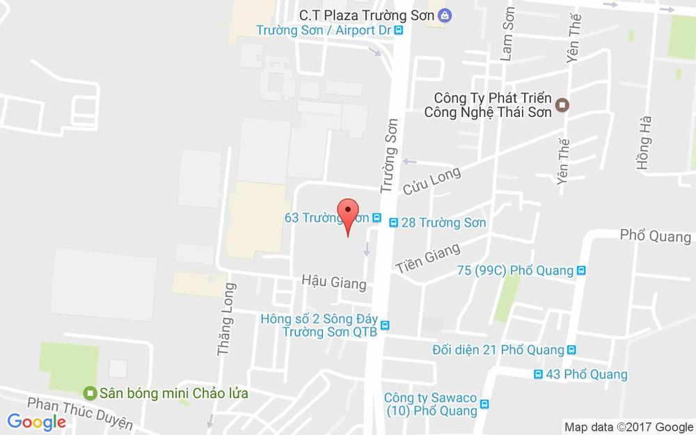 Vị trí bản đồ Lầu 1, TTTM Superbowl, 43A Trường Sơn Quận Tân Bình TP. HCM