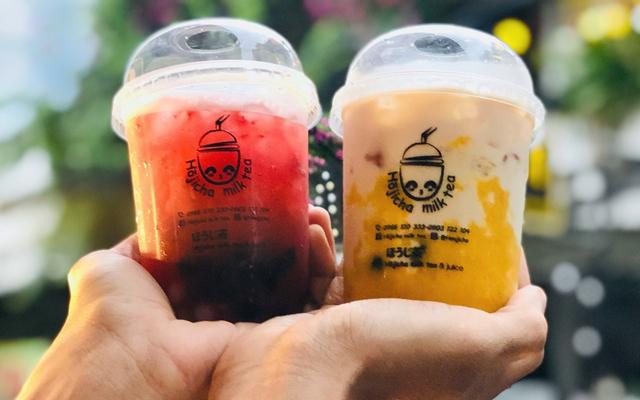 Hojicha Milk Tea Trà Sữa Dâu Tây Tươi - Trà Sữa Bí Đỏ, Trà Dâu Tây Hồng Ngọc - Bùi Thị Xuân