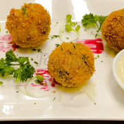 Fried ball with mayonaise