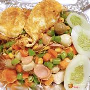 Mì trộn thập cẩm trứng ốp siêu ngon siêu nhiều