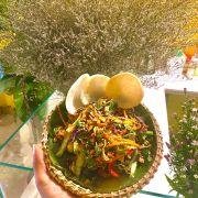Gỏi bắp chuối đậu