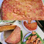 Bánh chuối đỏ hấp nước cốt dừa