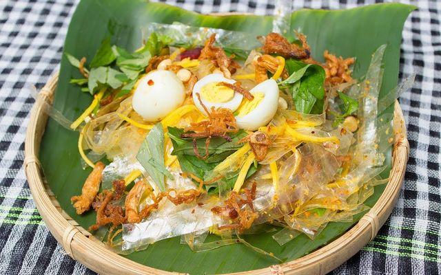 Bòn Bon - Trà Đào & Bánh Tráng Trộn