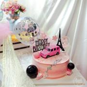 Bánh Kem Sinh Nhật ô tô hồng cho Nữ - bánh kem Nha Trang Tina