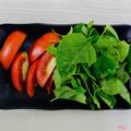 Lá giang + cà chua
