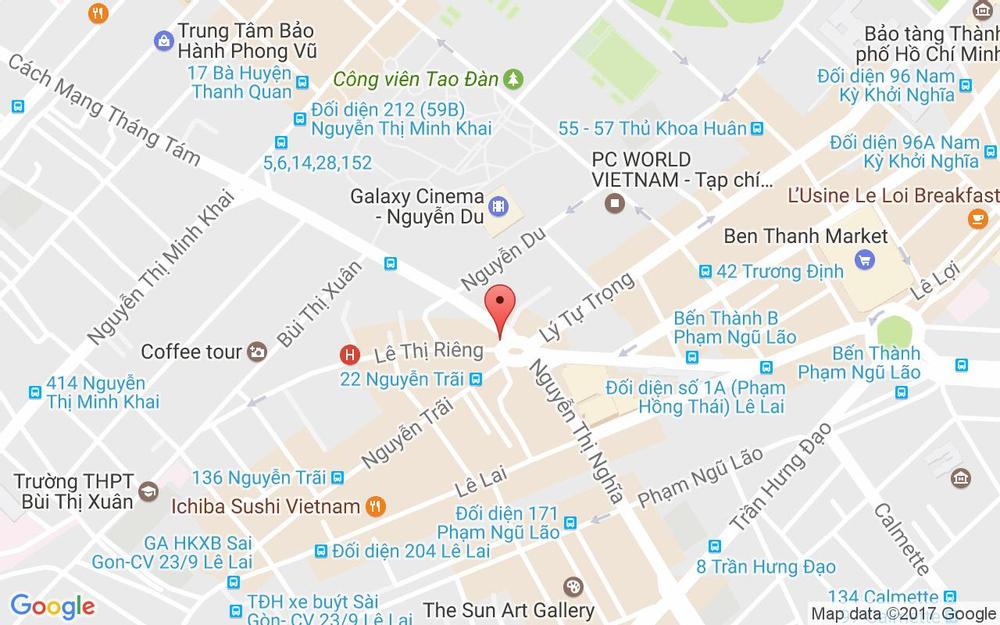 Vị trí bản đồ Vòng Xoay Phù Đổng, Cách Mạng Tháng 8 Quận 1 TP. HCM
