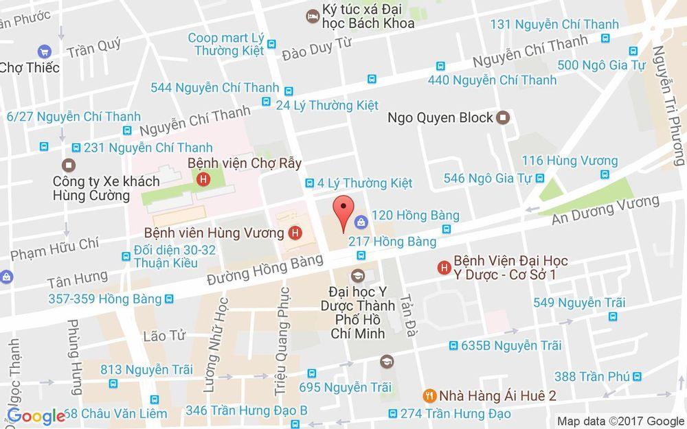 Vị trí bản đồ 126 Hùng Vương Quận 5 TP. HCM