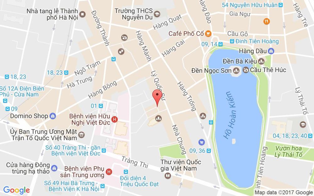 Vị trí bản đồ Hanoi Home Hotel - Ngõ Thọ Xương ở Hà Nội
