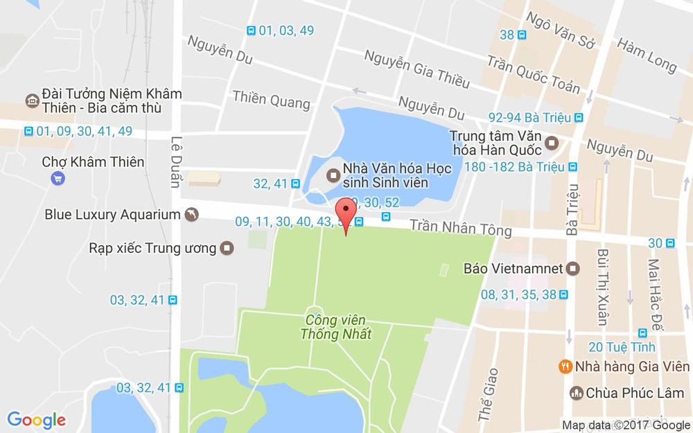 Vị trí bản đồ CLB Thể Hình Mùa Xuân - Trần Nhân Tông ở Hà Nội